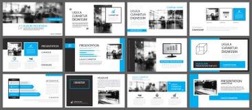 Elemento azul y blanco para la diapositiva infographic en fondo pres ilustración del vector