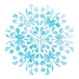 Elemento blu del fiore dell'acquerello per progettazione Fotografia Stock Libera da Diritti