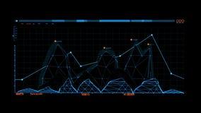 Elemento blu di HUD Rocket Missile Interface Graphic ElementOrange HUD Infographic Hologram Interface Graphic royalty illustrazione gratis