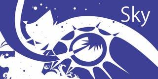 Elemento-céu cinco ilustração do vetor