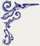 Elemento calligrafico di disegno. Stile di Doodle royalty illustrazione gratis