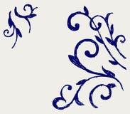 Elemento calligrafico di disegno. Stile di Doodle illustrazione di stock