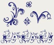 Elemento calligrafico di disegno. Stile di Doodle Fotografia Stock