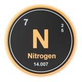 Elemento chimico dell'azoto N rappresentazione 3d royalty illustrazione gratis