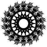 Elemento circolare monocromatico irritabile Motivo angolare in bianco e nero, Fotografie Stock
