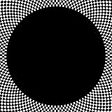 Elemento circolare a quadretti Grafico monocromatico astratto con lo squ royalty illustrazione gratis