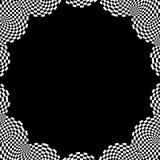 Elemento circolare a quadretti Grafico monocromatico astratto con lo squ illustrazione di stock