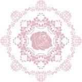 Elemento circular cor-de-rosa decorativo Fotos de Stock Royalty Free