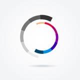 Elemento circular do projeto Ilustração abstrata do vetor com barra do preload Imagens de Stock