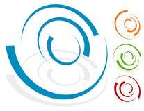 Elemento circular do projeto, versão diferente da forma 4 do logotipo com 4 ilustração stock