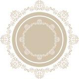 Elemento circular ornamental Fotos de archivo