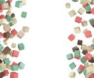 Elemento colorato volante di progettazione dei cubi Fotografie Stock