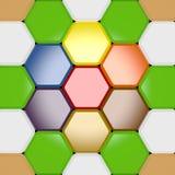 Elemento coloreado del diseño Fotografía de archivo libre de regalías