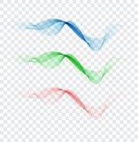 Elemento colorido abstrato da onda para o projeto Cores delicadas Equalizador da trilha da frequência de Digitas ilustração stock