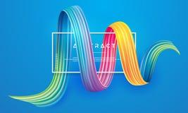 Elemento colorido del diseño de la pincelada ilustración del vector