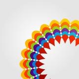 Elemento colorido del diseño floral para el uso del web Fotos de archivo libres de regalías