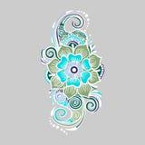 Elemento colorido florístico Imagen de archivo libre de regalías