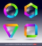 Elemento colorido y de cristal del diseño Fotos de archivo libres de regalías