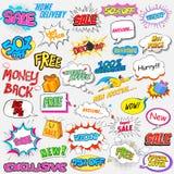 Elemento comico di vendita e di promozione di stile di scoppio Fotografie Stock Libere da Diritti
