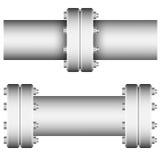Elemento con los rebordes rectos del tubo Imágenes de archivo libres de regalías