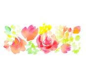 Elemento cor-de-rosa da flor do sumário pálido da cor ilustração royalty free