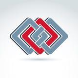 Elemento corporativo geométrico complejo Colorido abstracto del vector yo Imagen de archivo libre de regalías