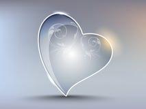 elemento creativo de la dimensión de una variable del corazón Imagen de archivo
