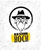 Elemento creativo di progettazione della roccia della vecchia scuola Occhiali da sole alla moda di With Beard In del musicista ch Fotografie Stock