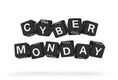 Elemento cyber di progettazione di lunedì Immagini Stock Libere da Diritti