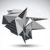 Elemento Cybernetic do contraste construído das figuras geométricas w Imagem de Stock Royalty Free