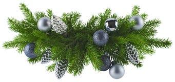 Elemento d'argento della decorazione di Natale Fotografia Stock Libera da Diritti