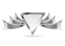 Elemento d'argento metallico di logo Fotografie Stock Libere da Diritti