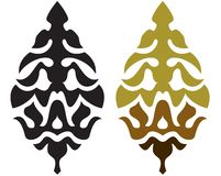 Elemento da árvore de Natal Fotos de Stock Royalty Free