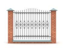 Elemento da cerca com a grade forjada Imagem de Stock Royalty Free