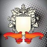 Elemento da crista com fita vermelha Foto de Stock