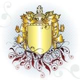 Elemento da crista do ouro Fotos de Stock Royalty Free