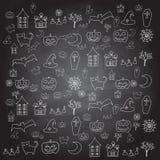 Elemento da garatuja do Dia das Bruxas dos desenhos animados Fotos de Stock