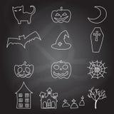 Elemento da garatuja do Dia das Bruxas dos desenhos animados Imagem de Stock Royalty Free