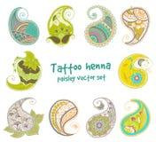 Elemento da hena da tatuagem Fotografia de Stock Royalty Free