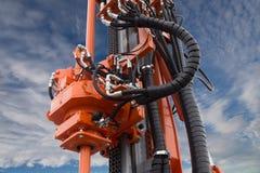 Elemento da máquina hidráulica da broca do óleo da esteira rolante imagem de stock