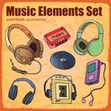 Elemento da música Imagem de Stock