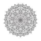 Elemento da mandala do zentangle do desenho da mão Fotos de Stock