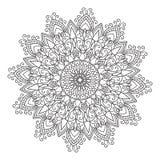 Elemento da mandala do zentangle do desenho da mão Imagens de Stock Royalty Free