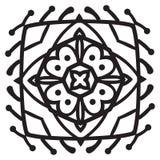 Elemento da mandala do zentangle do desenho da mão Imagem de Stock