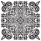 Elemento da mandala do zentangle do desenho da mão Fotos de Stock Royalty Free