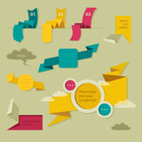 Elemento da Web. Estilo do origâmi ilustração stock