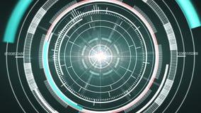 Elemento de alta tecnología abstracto del círculo ilustración del vector