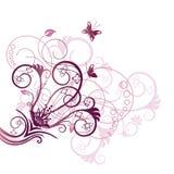 Elemento de canto roxo de projeto floral Fotografia de Stock Royalty Free
