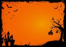 Elemento de Dia das Bruxas com molde da beira e do fundo ilustração do vetor