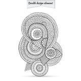Elemento de Henna Paisley Doodle Floral Design Fotografía de archivo